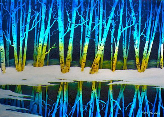 Art: Winter Birches by Artist Deanne Flouton