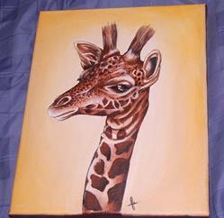 Art: Giraffe by Artist Karen  Martin