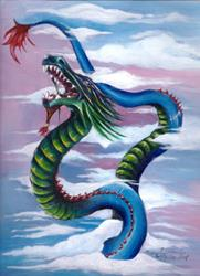 Art: Air Dragon by Artist Karen  Martin
