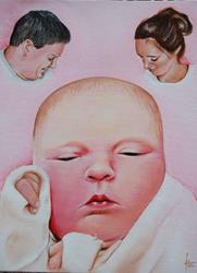 Art: It's a girl! by Artist Karen  Martin