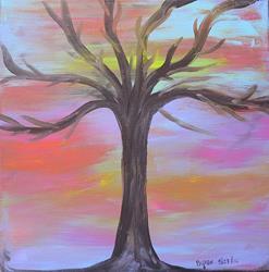 Art: tree of life sunrise by Artist Margie Byrne