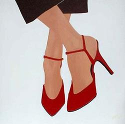 Art: Red Shoes by Artist Melissa Morton