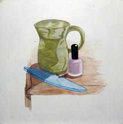 Art: Mug and Manicure by Artist Melissa Morton