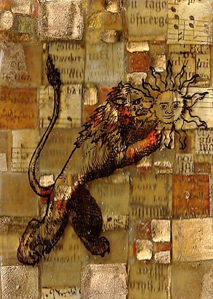 Art: The Green Lion by Artist Aria Nadii