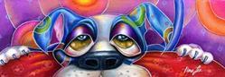 Art: (SOLD) The Pleeeeasse Puppy by Artist Alma Lee