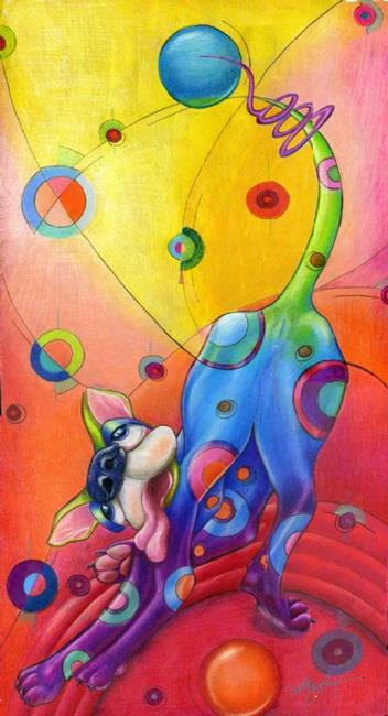 Art: Topsy Turvy Tripper by Alma Lee by Artist Alma Lee