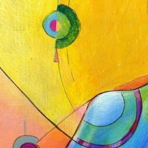 Detail Image for art Topsy Turvy Tripper by Alma Lee
