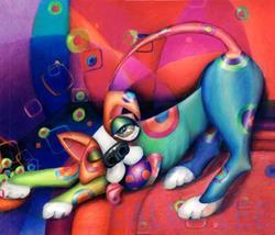 Art: K9.5 Spot the Dog (Sold) by Artist Alma Lee