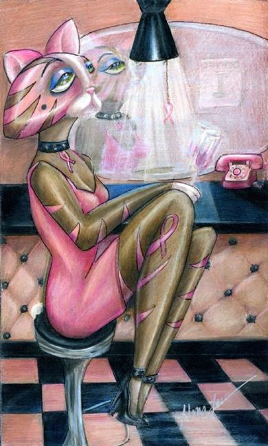 Art: Got Pink (Sold) by Artist Alma Lee
