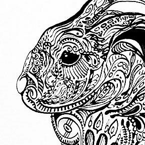Detail Image for art Tatted Rabbit