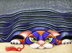 Art: Cat Shades by Artist Alma Lee