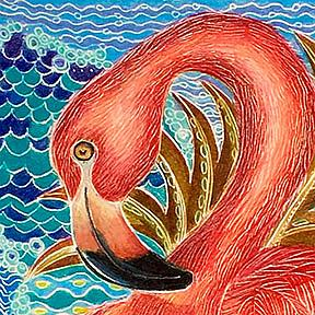 Detail Image for art Island Flamingo (SOLD)