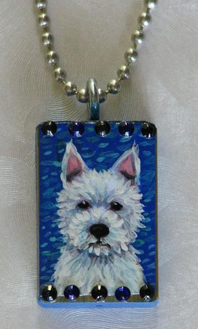Art: Westie Dog by Artist Melinda Dalke