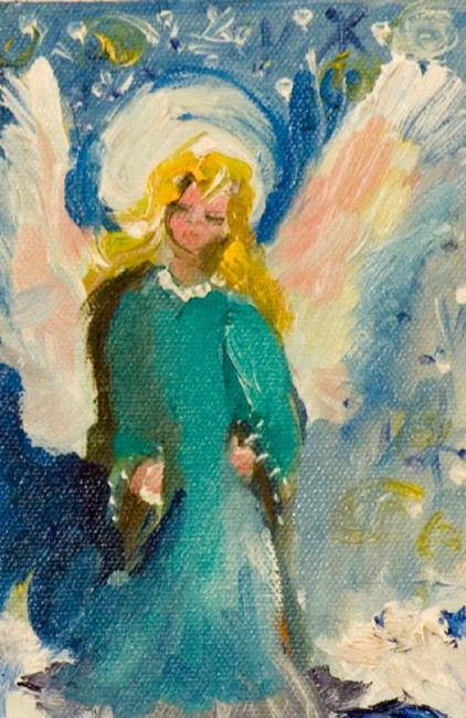 Art: Snow Angel-sold by Artist Delilah Smith