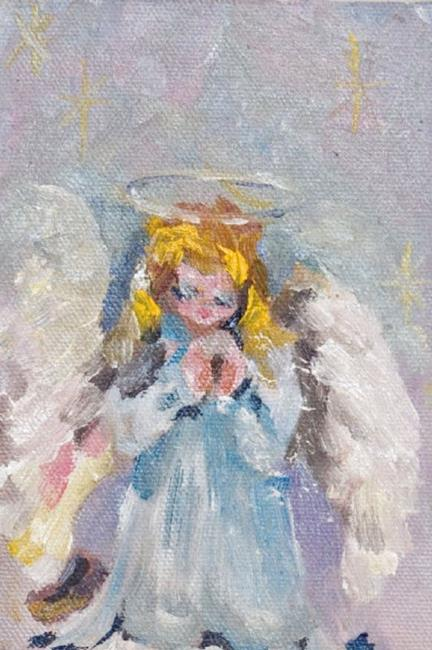 Art: Angel No.10 Praying Angel-sold by Artist Delilah Smith