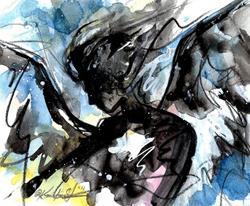 Art: Angel Sketch No. 2 by Artist Kathy Morton Stanion