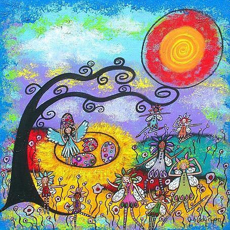 Art: Springtime Fairies by Artist Juli Cady Ryan