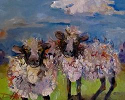 Art: Mardi Gras Sheep by Artist Delilah Smith