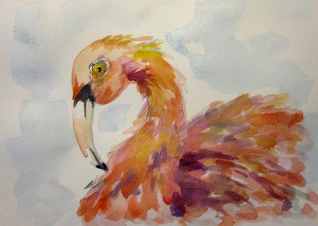 Art: Fancy Flamingo by Artist Delilah Smith