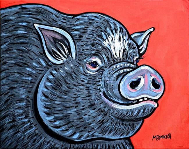 Art: Potbelly Pig Study 1 by Artist Melinda Dalke