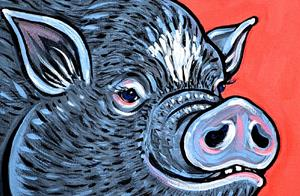 Detail Image for art Potbelly Pig Study 1