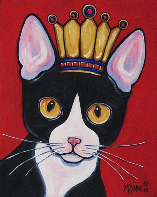 Art: Kitty Queen by Artist Melinda Dalke
