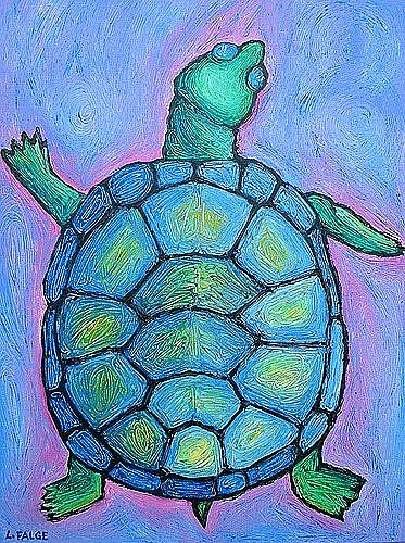 Art: Blue Turtle Boogie! by Artist Lindi Levison