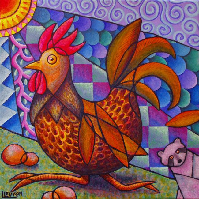 Art: Run, Rooster, Run! by Artist Lindi Levison