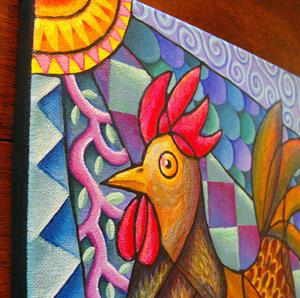 Detail Image for art Run, Rooster, Run!