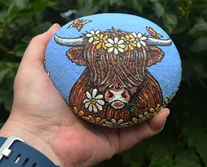 Detail Image for art Highland Cow & Butterflies