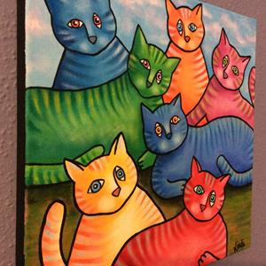 Detail Image for art One Cat Two Cat Too