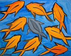 Art: Feng Shui Fish by Artist Lindi Levison