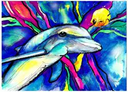 Art: Dolphin by Artist Kathy Morton Stanion
