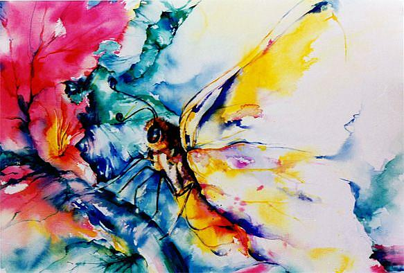 Art: Butterfly by Artist Kathy Morton Stanion