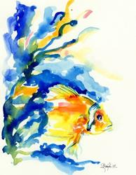 Art: Little Fish by Artist Kathy Morton Stanion