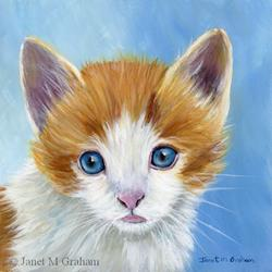 Art: Kitten by Artist Janet M Graham