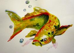 Art: Swimming Fish- SOLD by Artist Delilah Smith