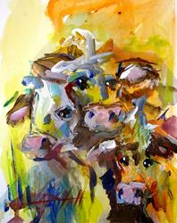 Art: Moo Moo Buckeroo-sold by Artist Delilah Smith