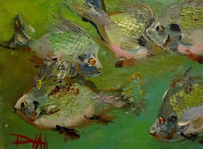Art: Chubby Blue Gills by Artist Delilah Smith