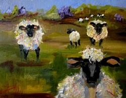 Art: Fat Sheep by Artist Delilah Smith
