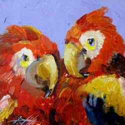 Art: Two Parrots by Artist Delilah Smith