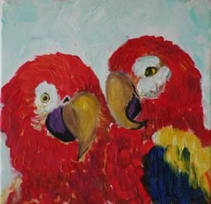Detail Image for art Two Parrots