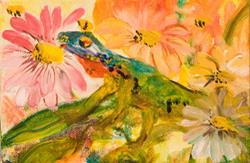 Art: Garden Friend by Artist Delilah Smith