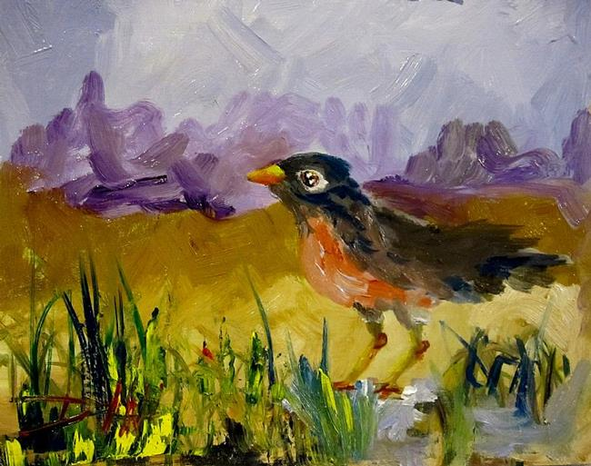 Art: Robin-sold by Artist Delilah Smith