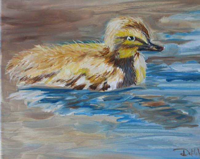 Art: First Swim, SOLD by Artist Delilah Smith