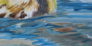 Detail Image for art First Swim, SOLD