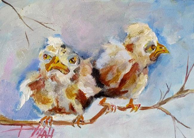 Art: Grumpy Birds by Artist Delilah Smith