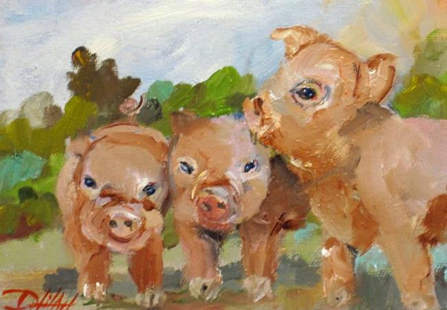 Art: Little Pigs by Artist Delilah Smith