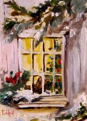 Art: Waiting for Santa by Artist Delilah Smith