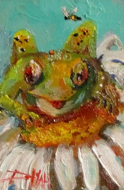 Art: One Leap Frog by Artist Delilah Smith